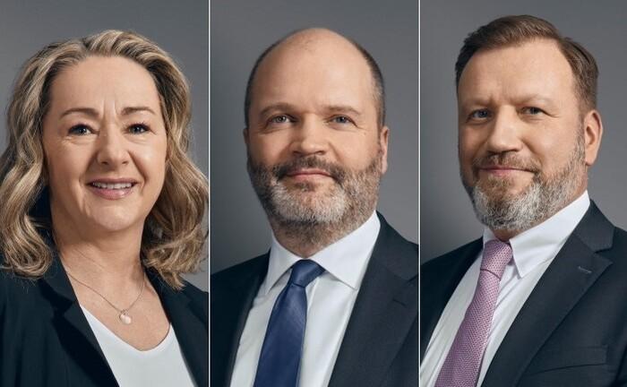 Heike Hübler, Ralf Habeth (Mitte) und Michael Schülke von der Braunschweiger Privatbank