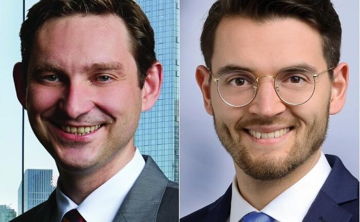 Frank Thole (l.) und Amadeus Maximilian Gryger von der Unternehmensberatung Wepex geben einen fundierten Überblick über die neue Anlageform der Krypto-Wertpapiere.