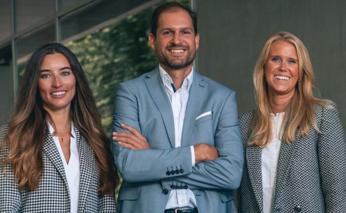 Natalie Rauschendorfer (l.), Dinah Spitzley und Reinhard Prügl, die führenden Köpfe von Haus Next