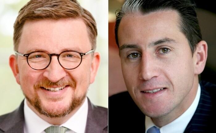 Christian Machts (links) von Fidelity International und Frederik Meheus von Moonfare