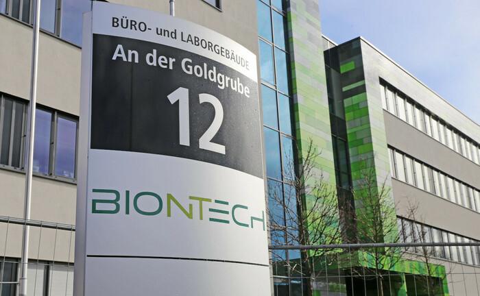 Hauptsitz der Firma Biontech in Mainz