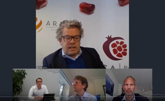 Malte Dreher, Herausgeber vom private banking magazin, im Gespräch mit den Portfoliomanagern Florian Romacker, Stefan Böttcher und Jonas Liegl