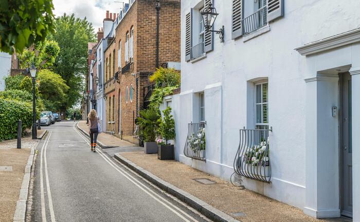 Wohnstraße in London