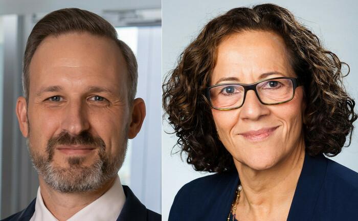 Neuzugang Gregor Hirt und seine Chefin Deborah Zurkow: Mischanlagen voranbringen.|© AGI