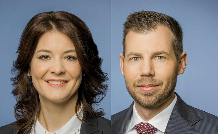 Fondsmanager Maria Stäheli und Oliver Reinhard