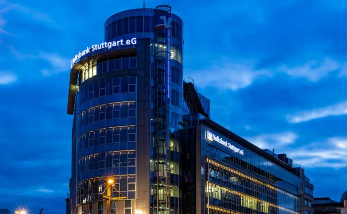 Gebäude der Volksbank Stuttgart: Eine der größten Genossenschaftsbanken Baden Württembergs hat aktuell eine Teamleiter-Stelle im Private Banking ausgeschrieben.|© imago images / Arnulf Hettrich