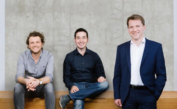Minveo-Chefetage (von links): Luan Haxha, Johannes Schubert, Mathias Gehrke|© Minveo