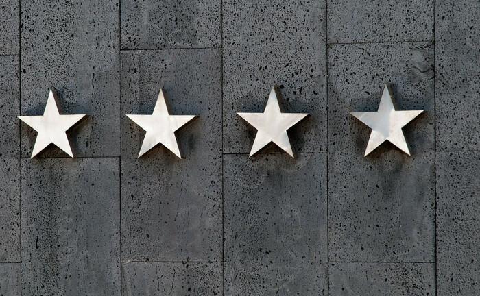 Vier Sterne, die zweithöchste Bewertung im Hotelwesen