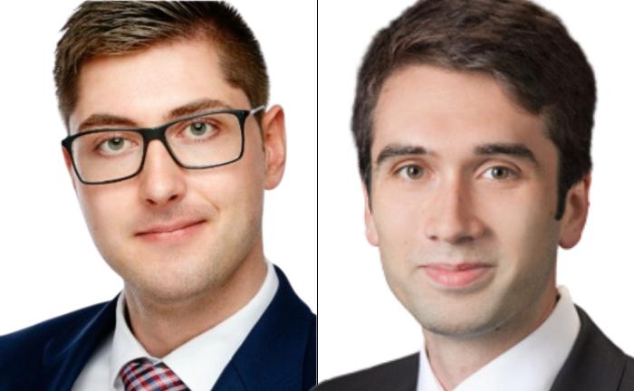 Vladislav Gounas (li.) und Yannick Düring von der Deutschen Oppenheim Family Office