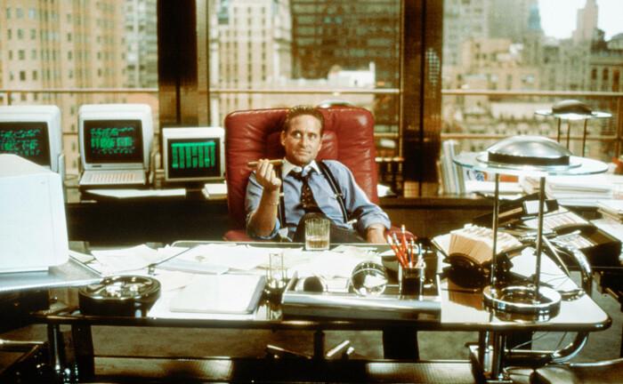 """Die Filmfigur Gordon Gekko aus """"Wall Street"""" (1987)"""