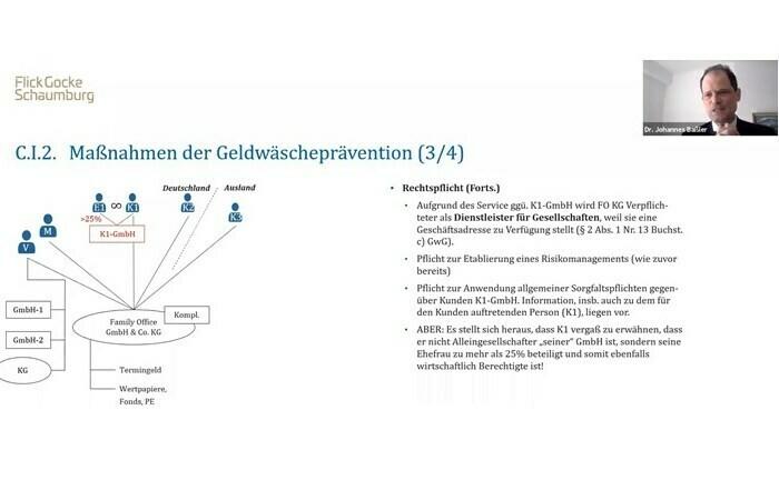 """Screenshot aus der Master Class """"Die Beachtung von Rechtspflichten"""""""
