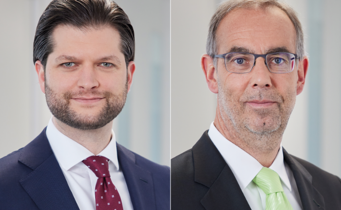 Christoffer Müller (l.) und Michael Winkler von der St.Galler Kantonalbank Deutschland