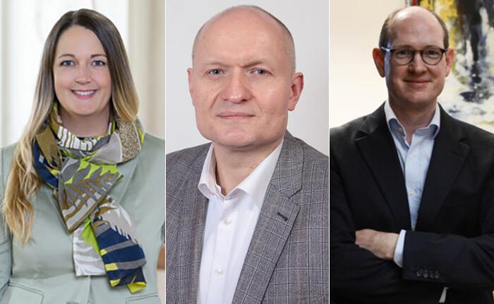 Laura Marie Edinger-Schons, Thomas Jesch und Oliver Spalt (r.) sehen beim Thema Nachhaltigkeit große Chancen für den Finanzsektor