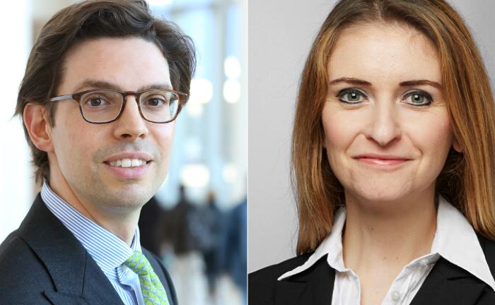 Vincent Triesschijn (l.) von ABN Amro und Tanja Krystkowiak von der Bethmann Bank