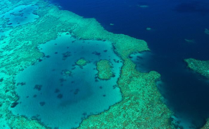 Das Great-Barrier-Riff vor der Küste Australiens