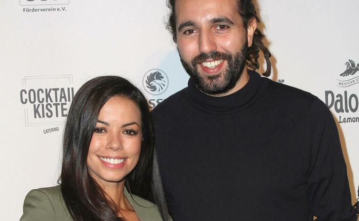 About You-Chef Tarek Müller, hier mit TV-Star Fernanda Brandao