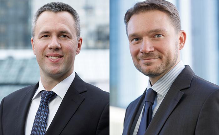 Die Gründer von Novovest, Peter Dombeck (r.) und Marc-André Köhler