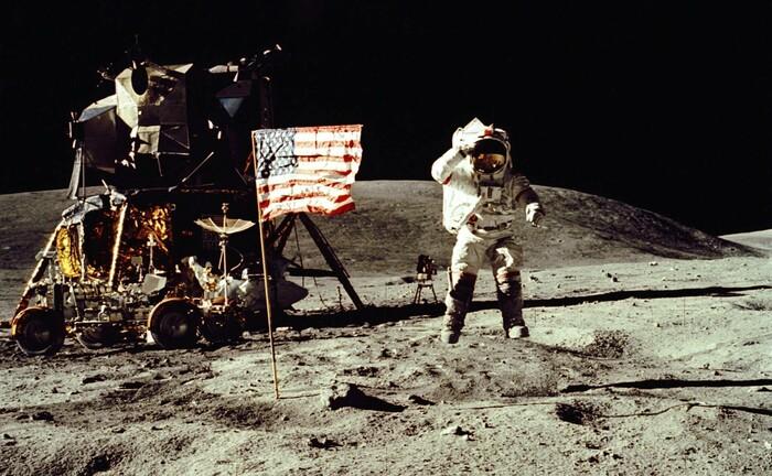 Zwei Jahre nach der ersten Mondlandung 1969 durch Neil Armstrong und Buzz Aldrin
