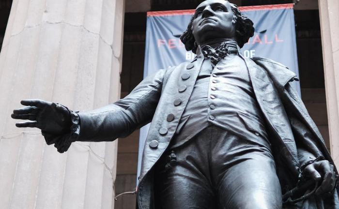 George-Washington-Studie gegenüber der NYSE