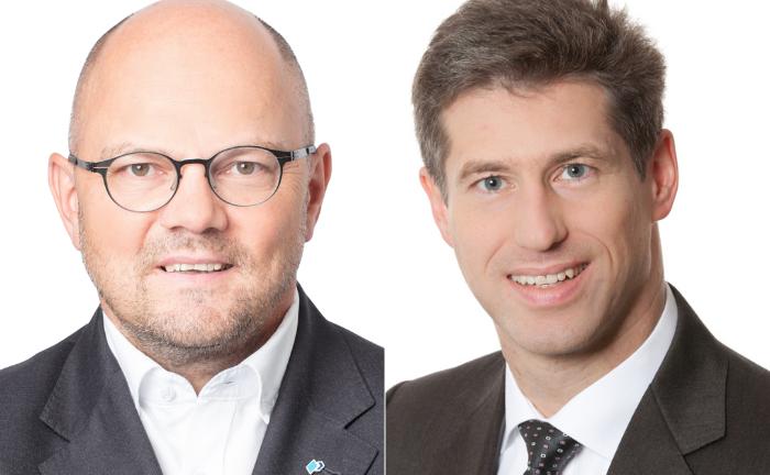Bernd Lönner (l.) und Bernhard Martin von Real I.S.