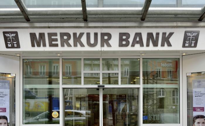 Filiale der Merkur Privatbank: Ein Postenwechsel steht an.|© Imago Images / argum
