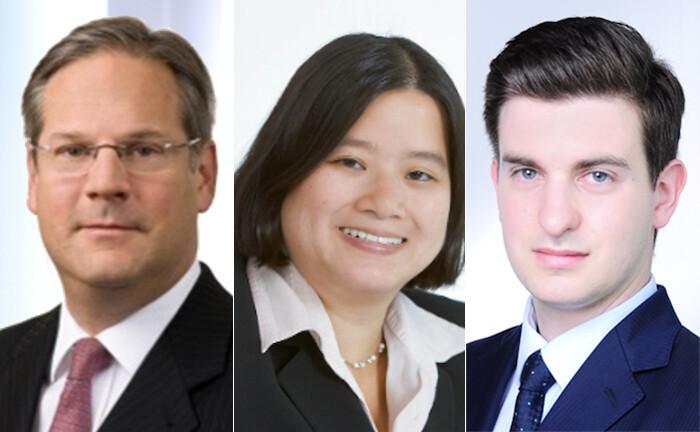 Thomas Kemmsies (l.) Tamara Trinh und Francesco Pozzi von Makrowerk Investment Management