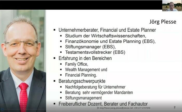 """Screenshot aus der Master Class """"Das passende Testament - eine Bauanleitung!"""""""