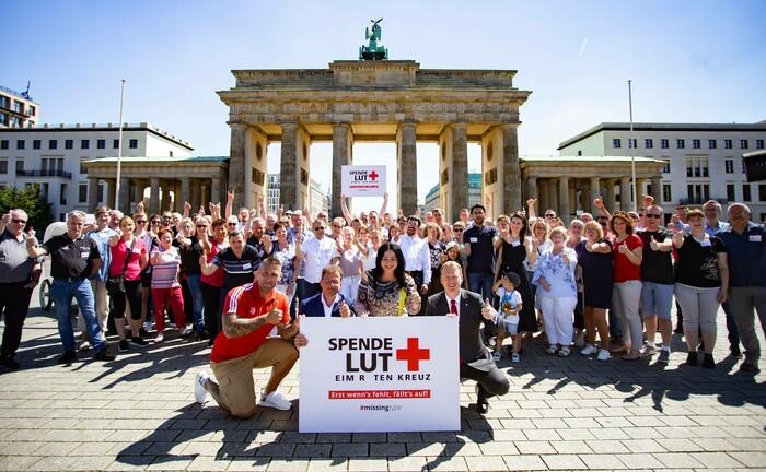 Weltblutspendertag vor dem Brandenburger Tor (2019)