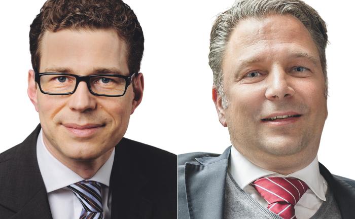 Stefan Fritz (l.) und Jörg Seifart: Sie schlagen Korrekturen vor.|© Kirchliche Stiftungen München / Gesellschaft für das Stiftungswesen