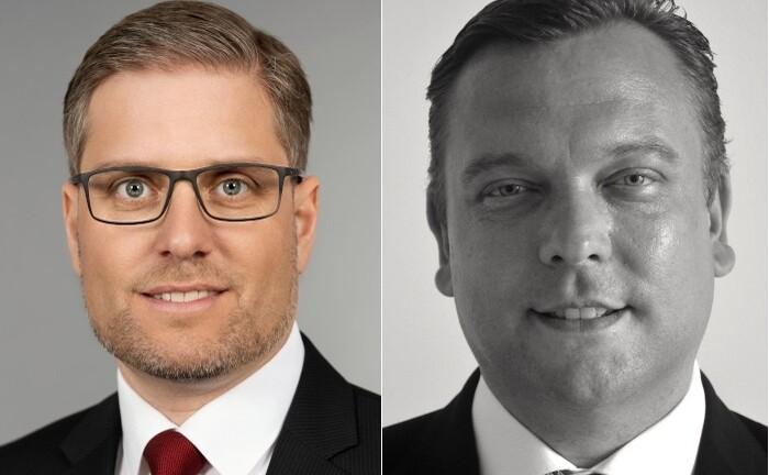Steffen Schill (l.) und Michael Neff leiten künftig zwei Teilsegmente im Private Wealth Mangement der DZ Privatbank: Schill verantwortet das Segment Wealth-Management-Beratung & Vertriebsmanagement, Neff kümmert sich ab August um das Beratungsgeschäft der Bank.|© DZ Privatbank