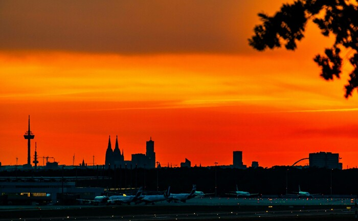 Köln im Abendrot
