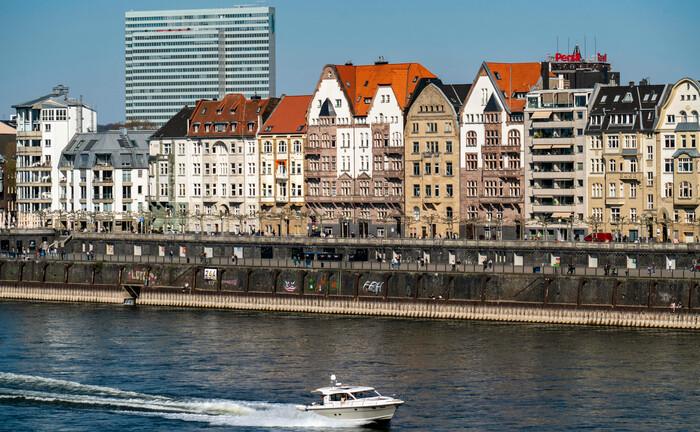Das Rheinufer in Düsseldorf