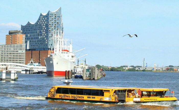 Das Konzerthaus Elbphilharmonie in der Hamburger Hafencity