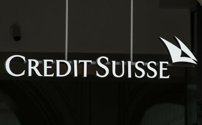 Logo der Credit Suisse am Zürcher Paradeplatz