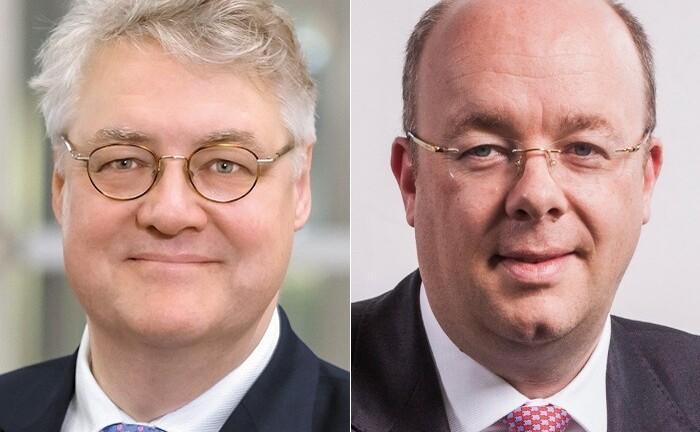 Ulrich Stephans (l.) Rolle bei der Deutschen Bank ändert sich, unter anderem übernimmt er die Aufgabe des Anlagechefs für Wealth Management Deutschland. Er berichtet an den globalen Investmentchef Christian Nolting und wird zudem dessen Stellvertreter.