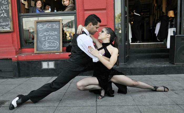 Tangotänzer in Argentinien