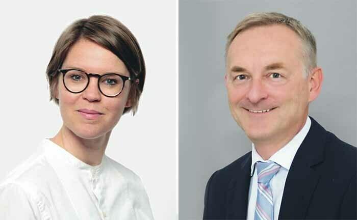 Nina Roth von BMO und Peter Haueter vom Alte Leipziger Trust