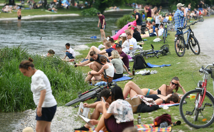 Münchener Park im Juli