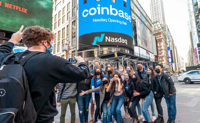 Börsengang der Handelsplattform für Kryptowährungen Coinbase