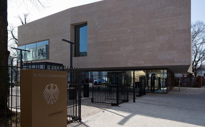 Empfangsgebäude des Bundesgerichtshofs in Karlsruhe