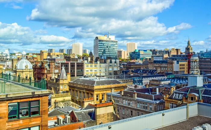 Die Skyline von Glasgow