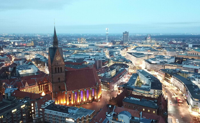 Hannover aus der Vogelperspektive