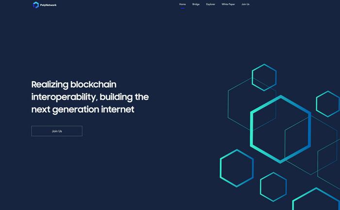 Internet-Seite von Poly Network