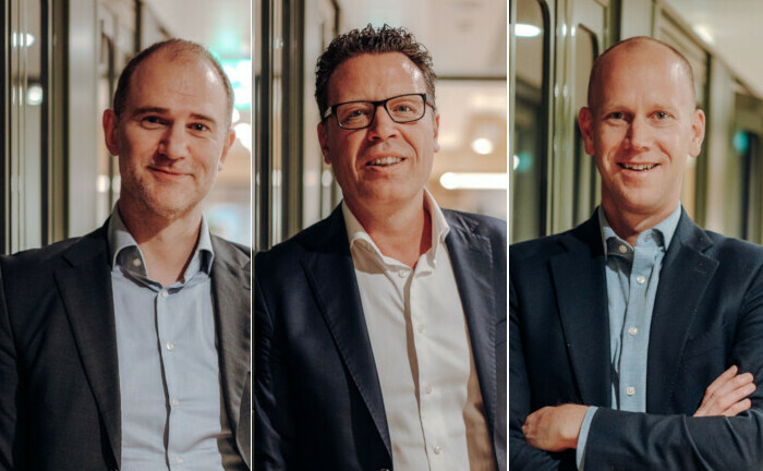 WuV-Geschäftsführer Ingo Kürpick (li.), Markus Sievers (Mitte), Chef des Investmenthauses Apano, und Stefan Schrader, Chef des Analysehauses Titus.