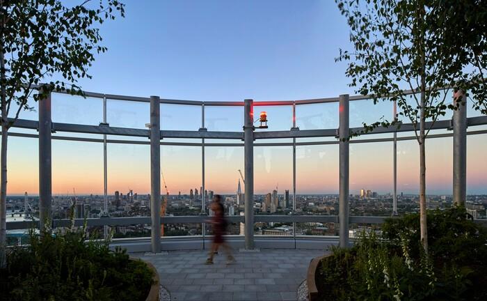 Die Bauarbeiten an der Skyline Londons gehen trotz Pandemie weiter