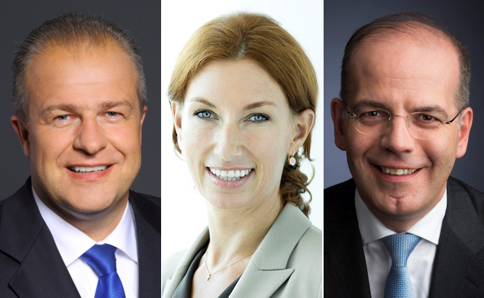 Andreas Niklaus (l.) wird Deutschland-Chef, Dagmar Kamber Borens übernimmt Verantwortung in der Schweiz. Beide berichten an Jörg Ambrosius, Vorsitzender der Geschäftsleitung für den Bereich Emea bei State Street