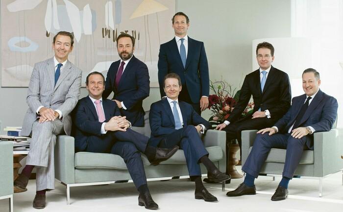 Der bisherige Teilhaber-Kreis der Pictet-Gruppe: Boris Collardi (ganz rechts) verlässt das Führungsgremium überraschenderweise nach drei Jahren