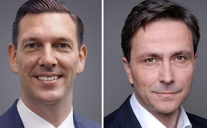 Steffen Schaack und Marc Sahling (r.) von Dr. Lübke und Kelber