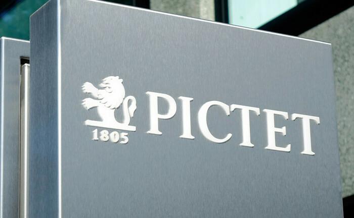 Pictet-Schild am Hauptsitz in Genf