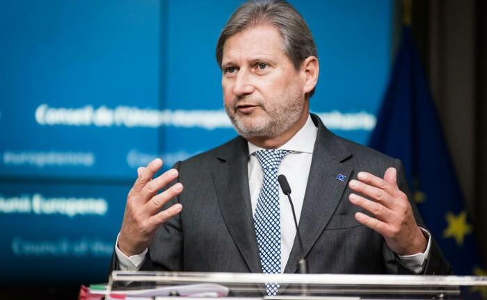 """EU-Kommissar Johannes Hahn: """"Die Emission grüner Anleihen ist Ausdruck unseres Engagements für Nachhaltigkeit."""